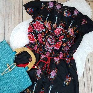 Dresses & Skirts - Hippie Chic Romantic Peacock Bold Hi Low Dress